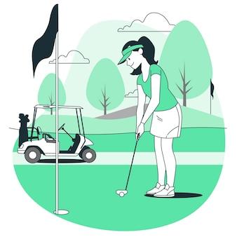Ilustração do conceito de golfe Vetor grátis