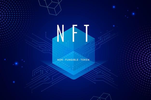 Ilustração do conceito de gradiente nft