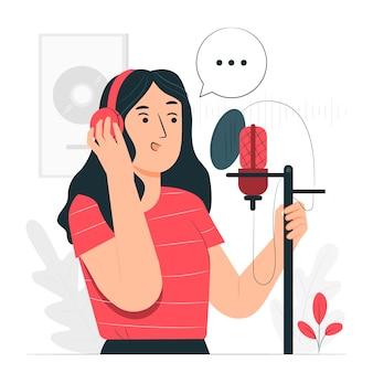 Ilustração do conceito de gravação