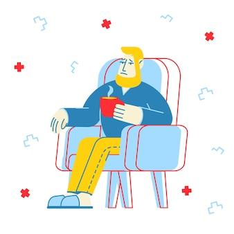 Ilustração do conceito de gripe e doença