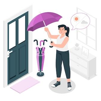 Ilustração do conceito de guarda-chuva