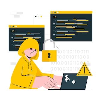 Ilustração do conceito de hacker