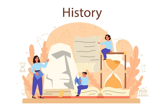 Ilustração do conceito de história em estilo simples
