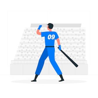 Ilustração do conceito de home run