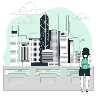 Ilustração do conceito de hong kong