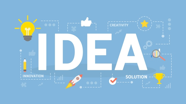 Ilustração do conceito de idéia.