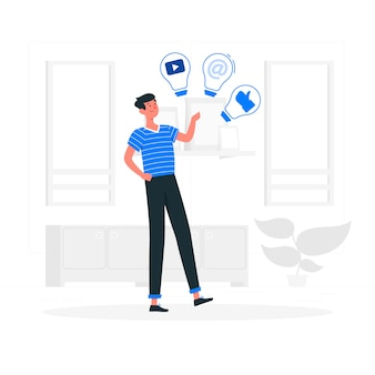 Ilustração do conceito de idéias sociais