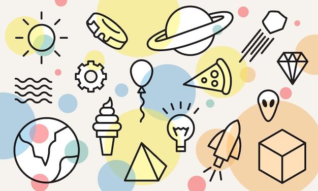 Ilustração do conceito de ideias