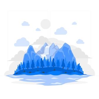 Ilustração do conceito de ilha