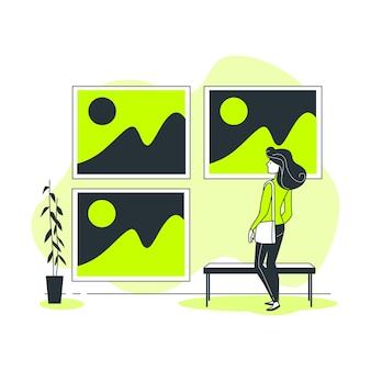 Ilustração do conceito de imagens