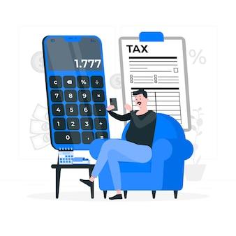 Ilustração do conceito de imposto