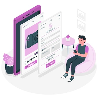 Ilustração do conceito de informação de pagamento