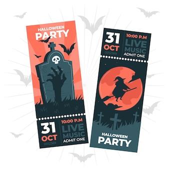 Ilustração do conceito de ingressos para o halloween