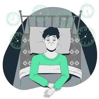 Ilustração do conceito de insônia