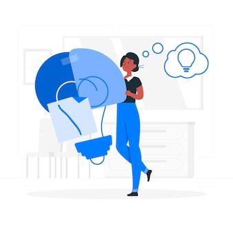 Ilustração do conceito de inspiração de design