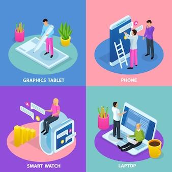 Ilustração do conceito de interface de usuário
