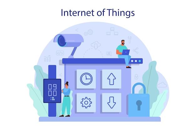 Ilustração do conceito de internet das coisas
