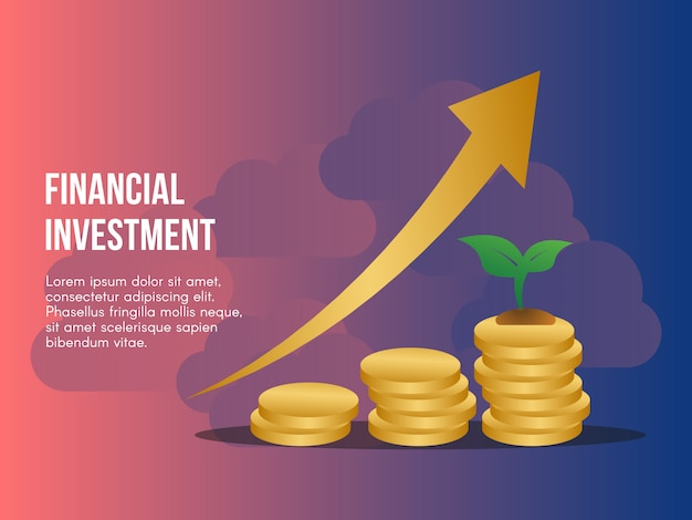 Ilustração do conceito de investimento financeiro