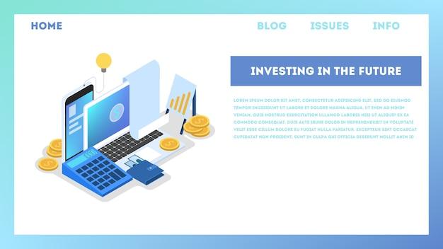 Ilustração do conceito de investimento. ideia de apoio financeiro.