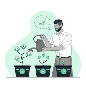 Ilustração do conceito de investimento