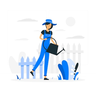 Ilustração do conceito de jardinagem