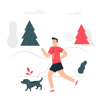 Ilustração do conceito de jogging
