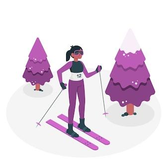 Ilustração do conceito de jogos olímpicos de inverno