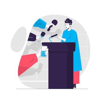 Ilustração do conceito de jornalismo