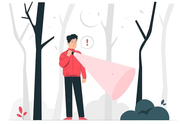 Ilustração do conceito de lanterna