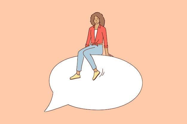 Ilustração do conceito de liberdade de expressão e comunicação
