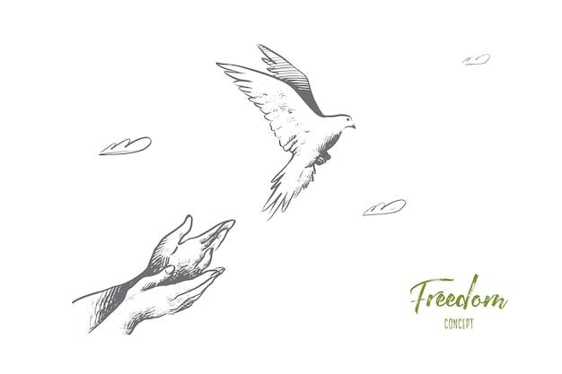 Ilustração do conceito de liberdade