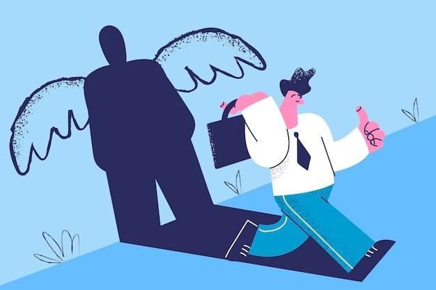 Ilustração do conceito de liderança e poder interior