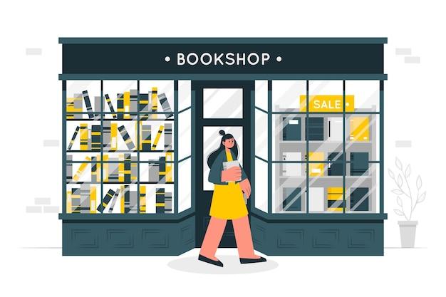 Ilustração do conceito de livraria