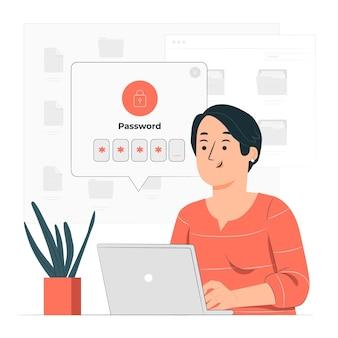 Ilustração do conceito de login seguro