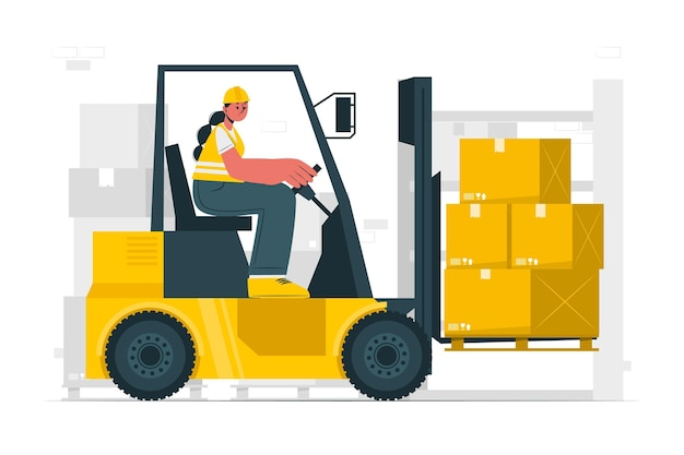 Ilustração do conceito de logística