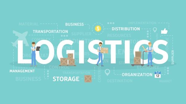Ilustração do conceito de logística.