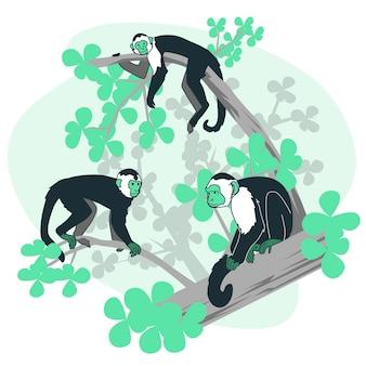 Ilustração do conceito de macacos