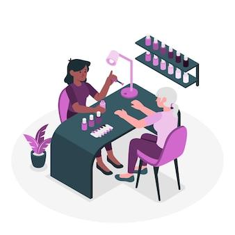 Ilustração do conceito de manicure