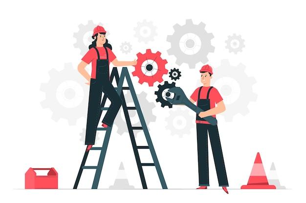 Ilustração do conceito de manutenção