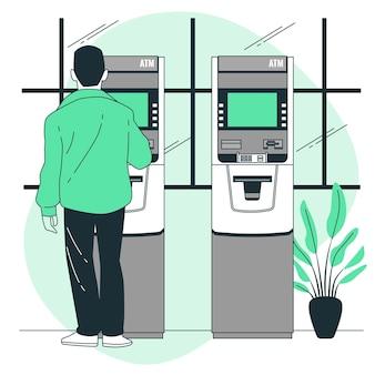 Ilustração do conceito de máquina atm