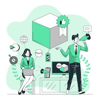 Ilustração do conceito de marketing