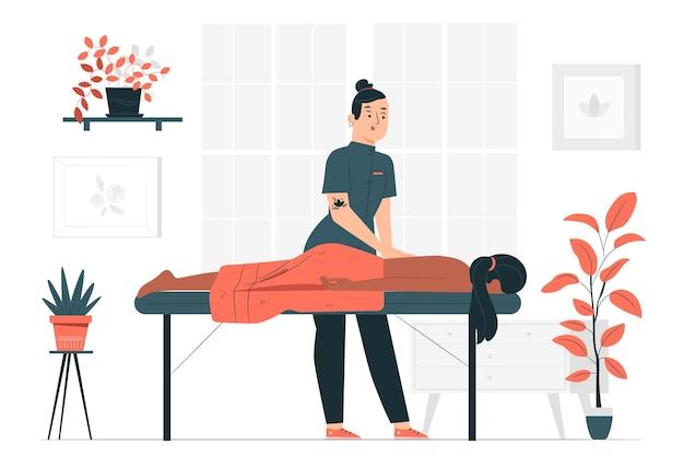 Ilustração do conceito de massoterapeuta