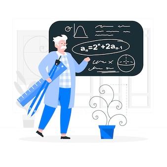 Ilustração do conceito de matemática