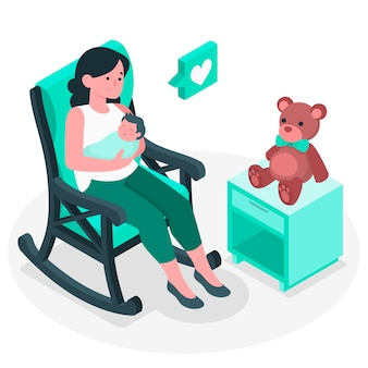 Ilustração do conceito de maternidade