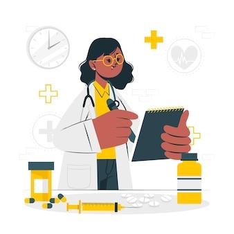 Ilustração do conceito de medicina