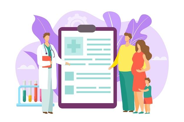 Ilustração do conceito de médico de família
