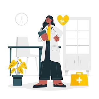 Ilustração do conceito de médico