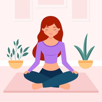 Ilustração do conceito de meditação