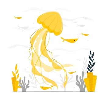Ilustração do conceito de medusa