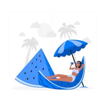 Ilustração do conceito de melancia